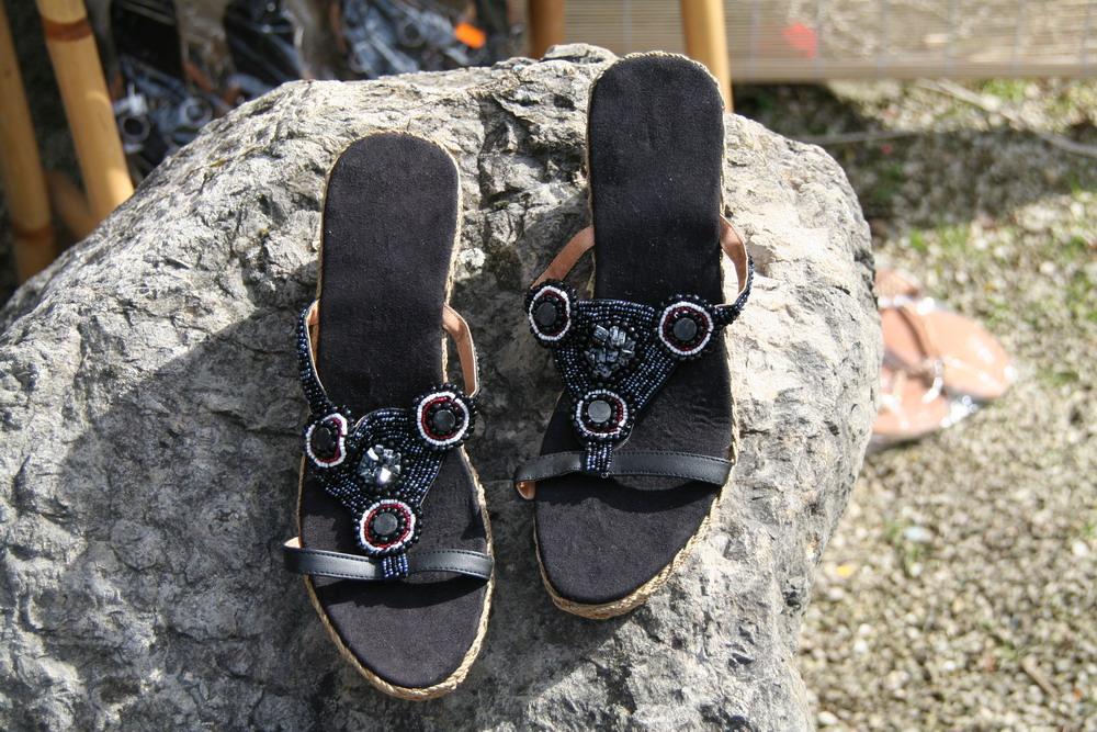 Schuhe am Afro-Markt Rheinfelden 2008