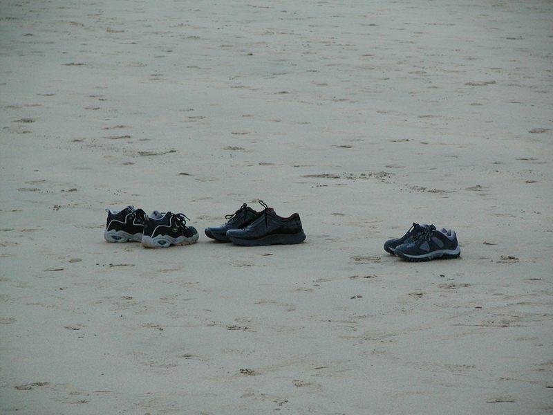 Schuhe am Stand