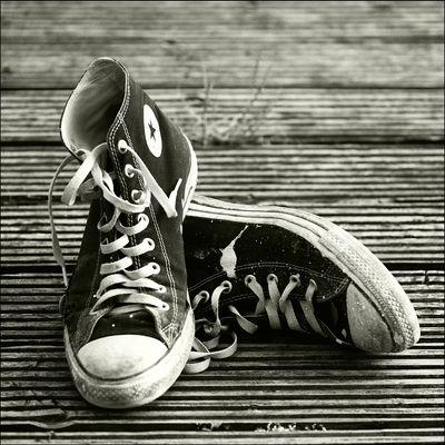 Schuhe, Holz und so