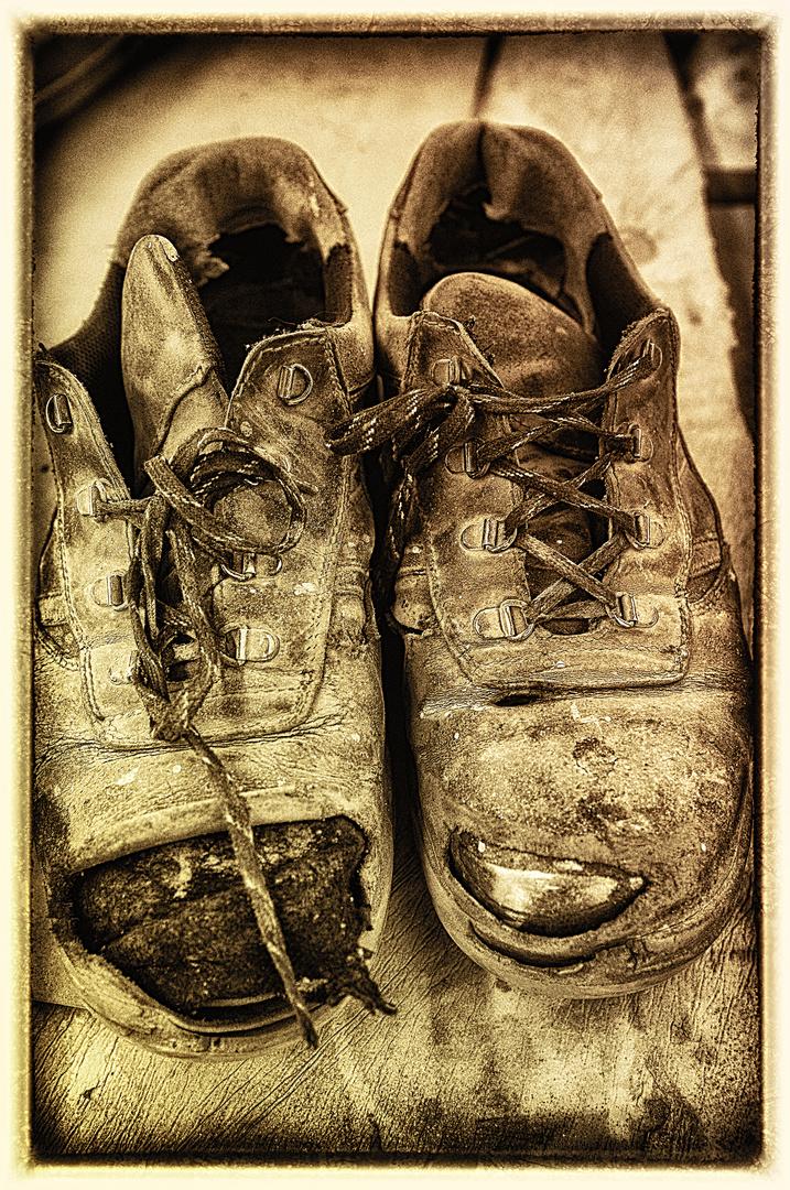 Schuhe im Ruhestand