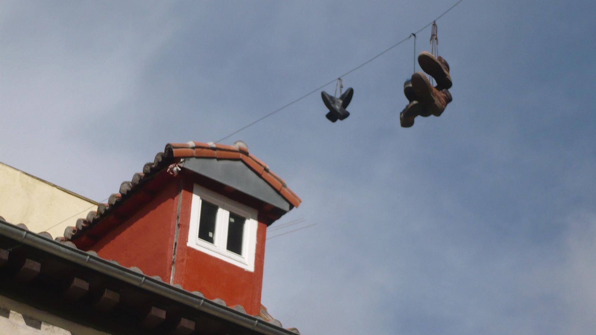 Schuhe über Madrid