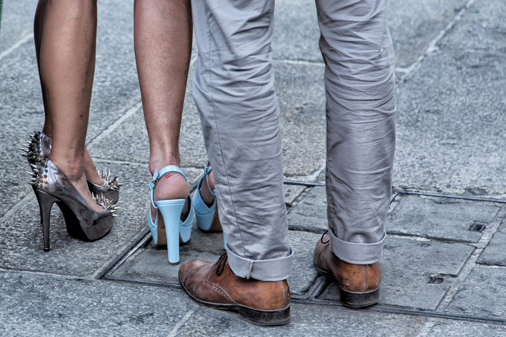 Schuhparade in Mailand