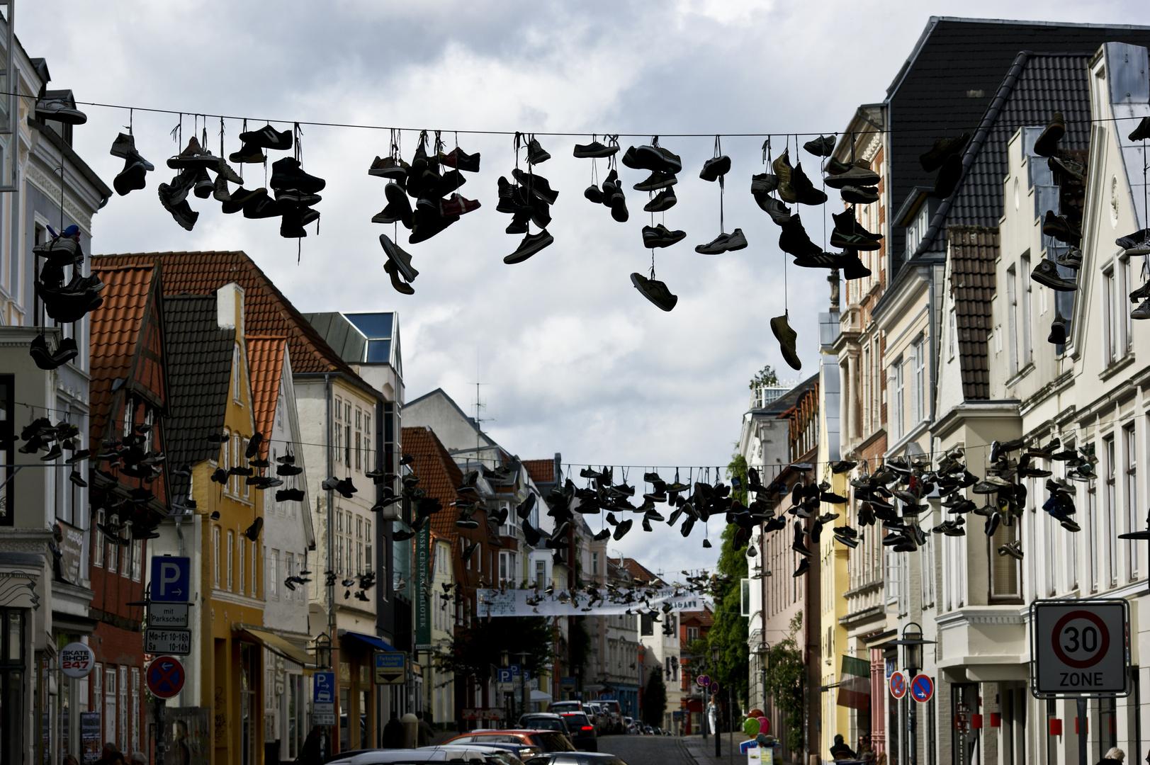 Schuhsammlung in Flensburg