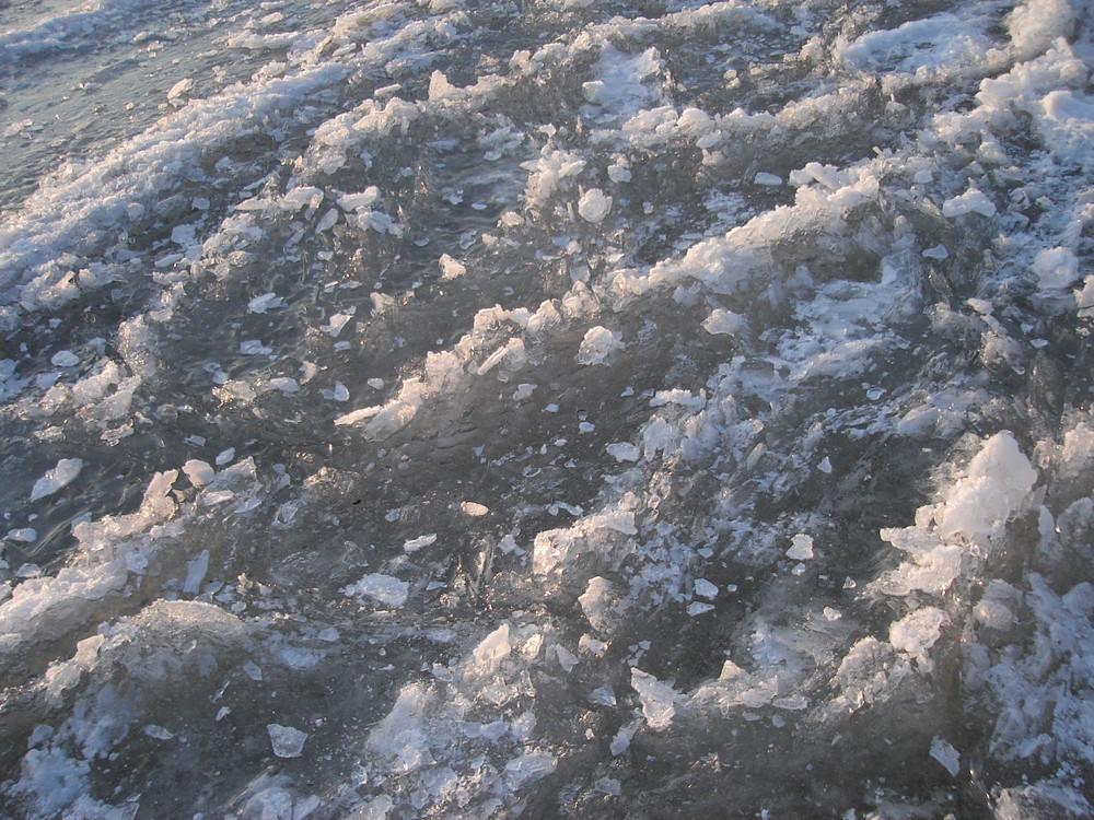 Schuimkoppen van ijs
