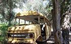 Schulbus ohne leben