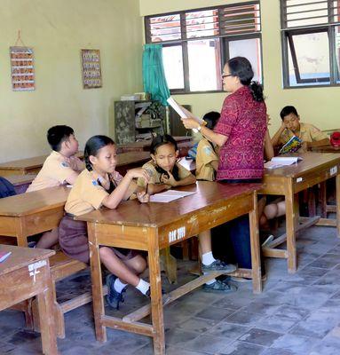 Schule in Tenganan, Bali