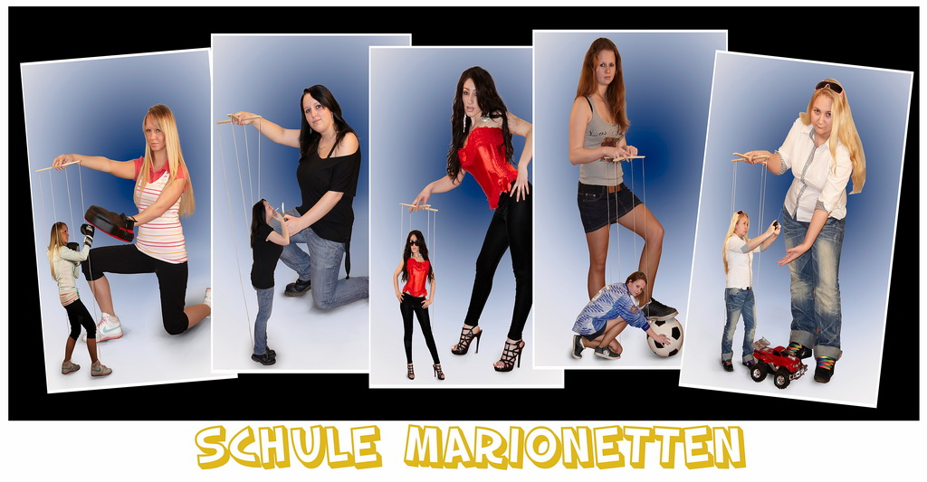 Schule Marionetten.