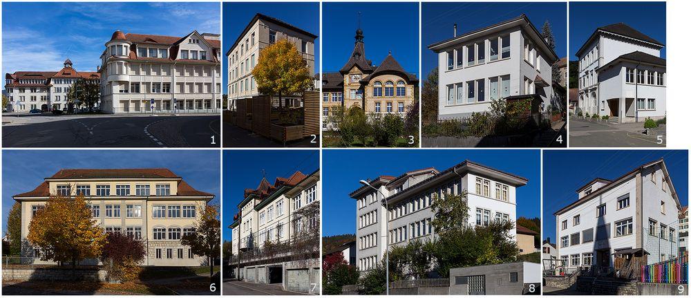 Schulhaus oder Uhrenfabrik?