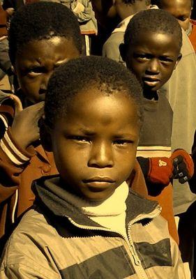Schuljunge in Lesotho