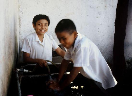 Schuljungs einer christlichen Schule in Masatepe