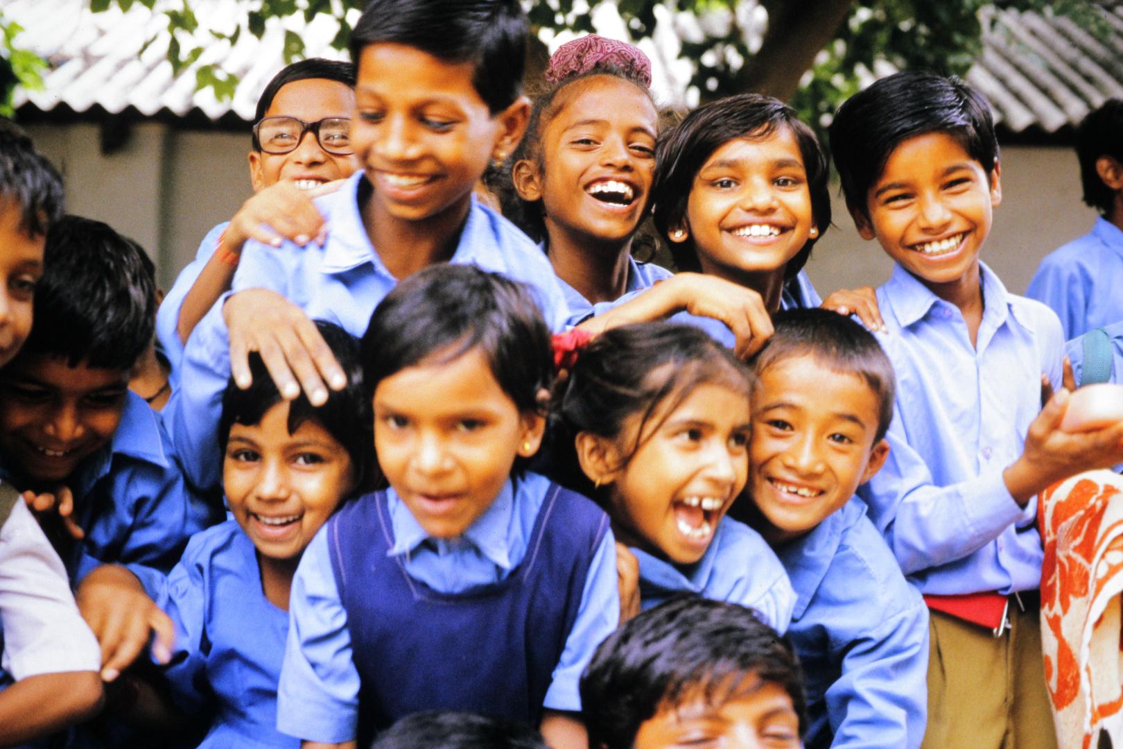 Schulkinder in Neu Delhi / Indien