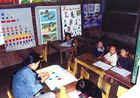 Schulklasse mit H'MONG-People in der Nähe Sapa's