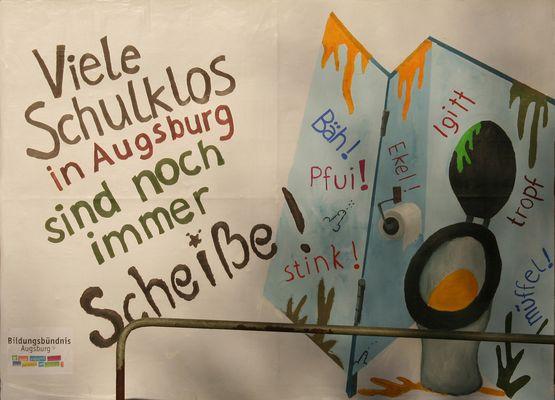 Schulklos in Augsburg