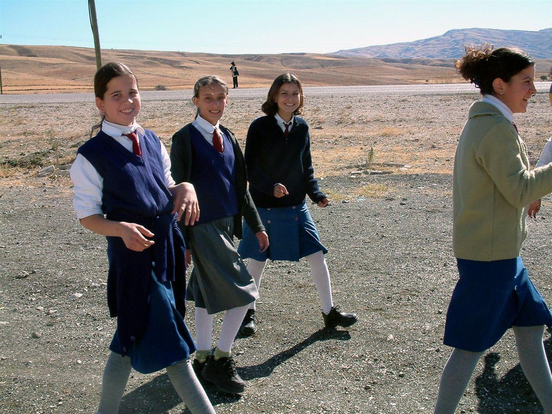 Schulmädchen in der Türkei