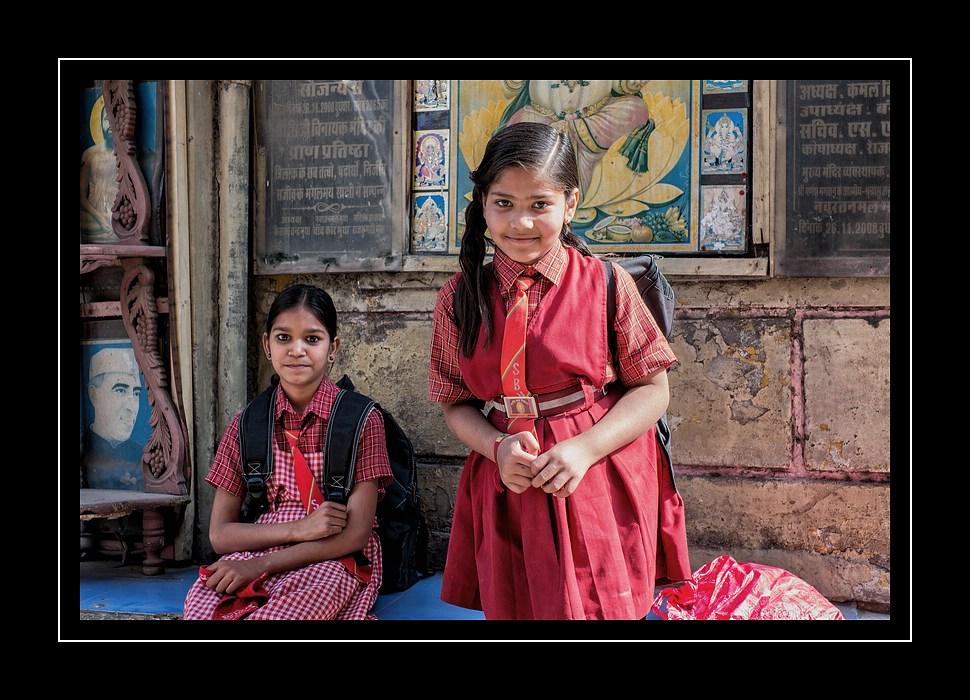 Schulmädels in Rajasthan