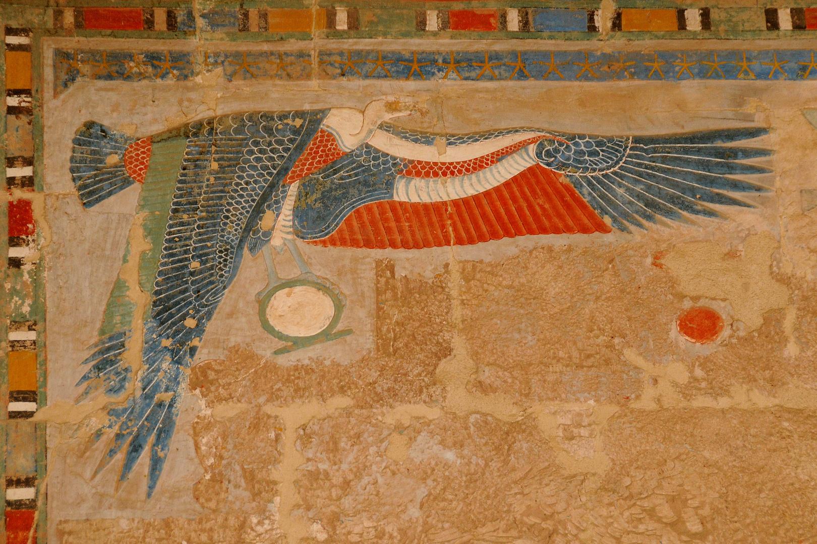 Schutzgeier im Hatschepsut-Tempel