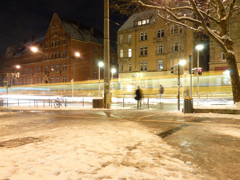 Schwab-/Bebelstraße am Abend