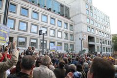 Schwabensstreich vor Rathaus