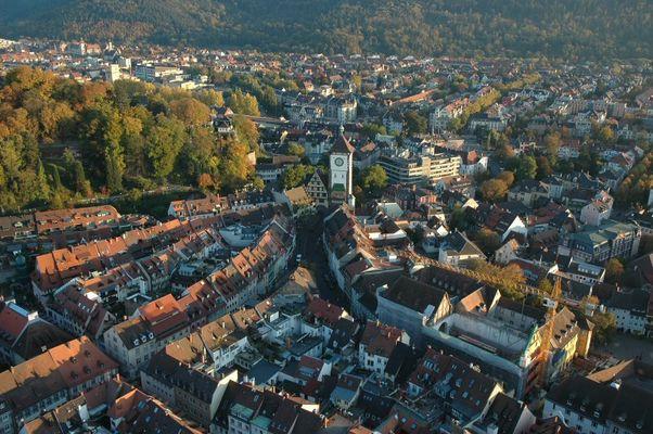 Schwabentor, Blick vom Münsterturm