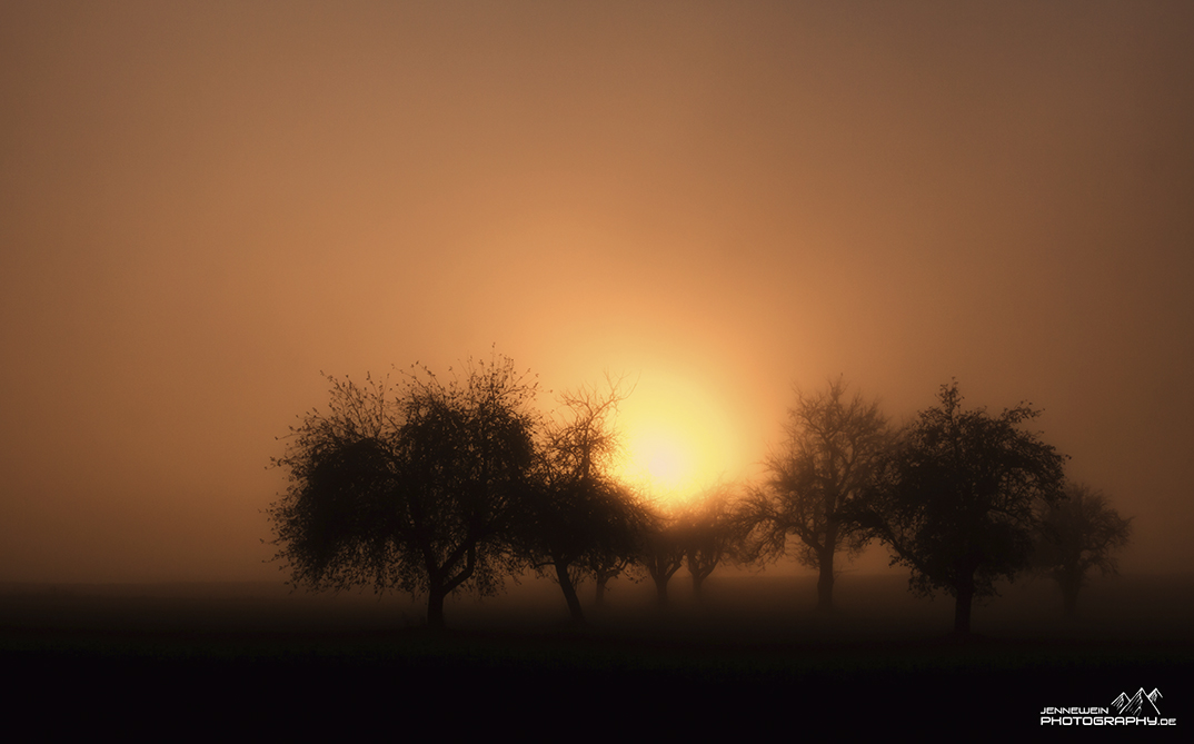 Schwäbischer Sonnenuntergang