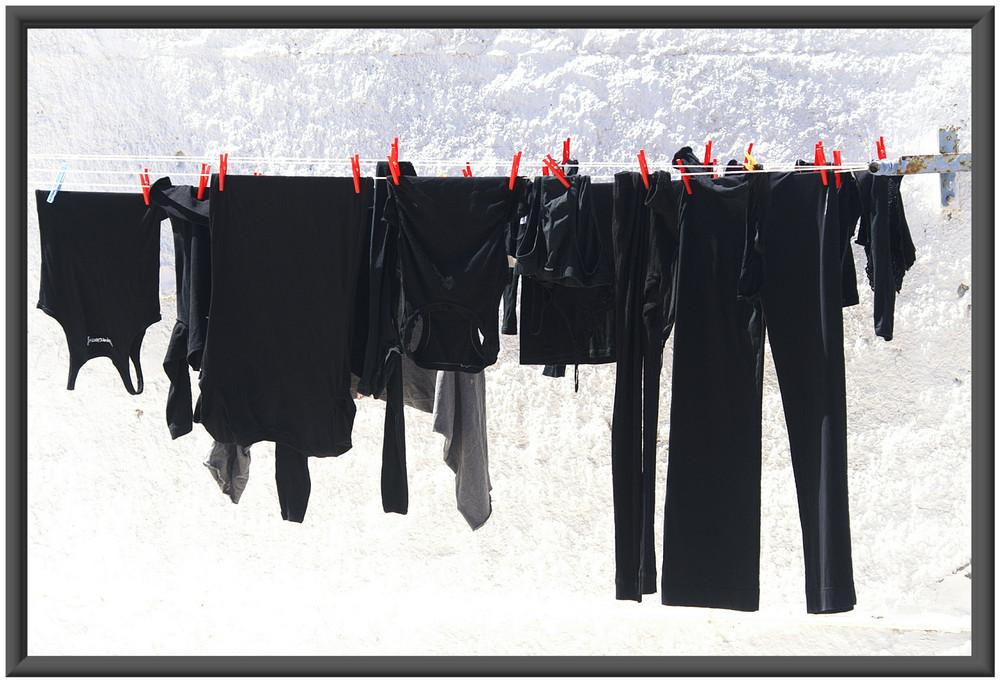 schwarz gewaschen