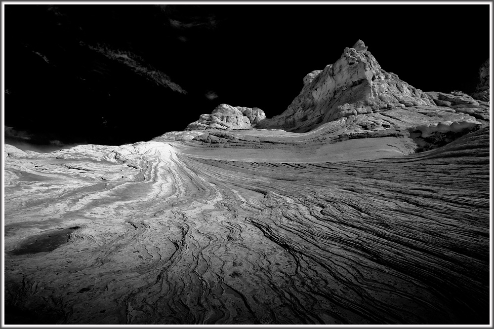 Schwarz-weiß-Landschaft