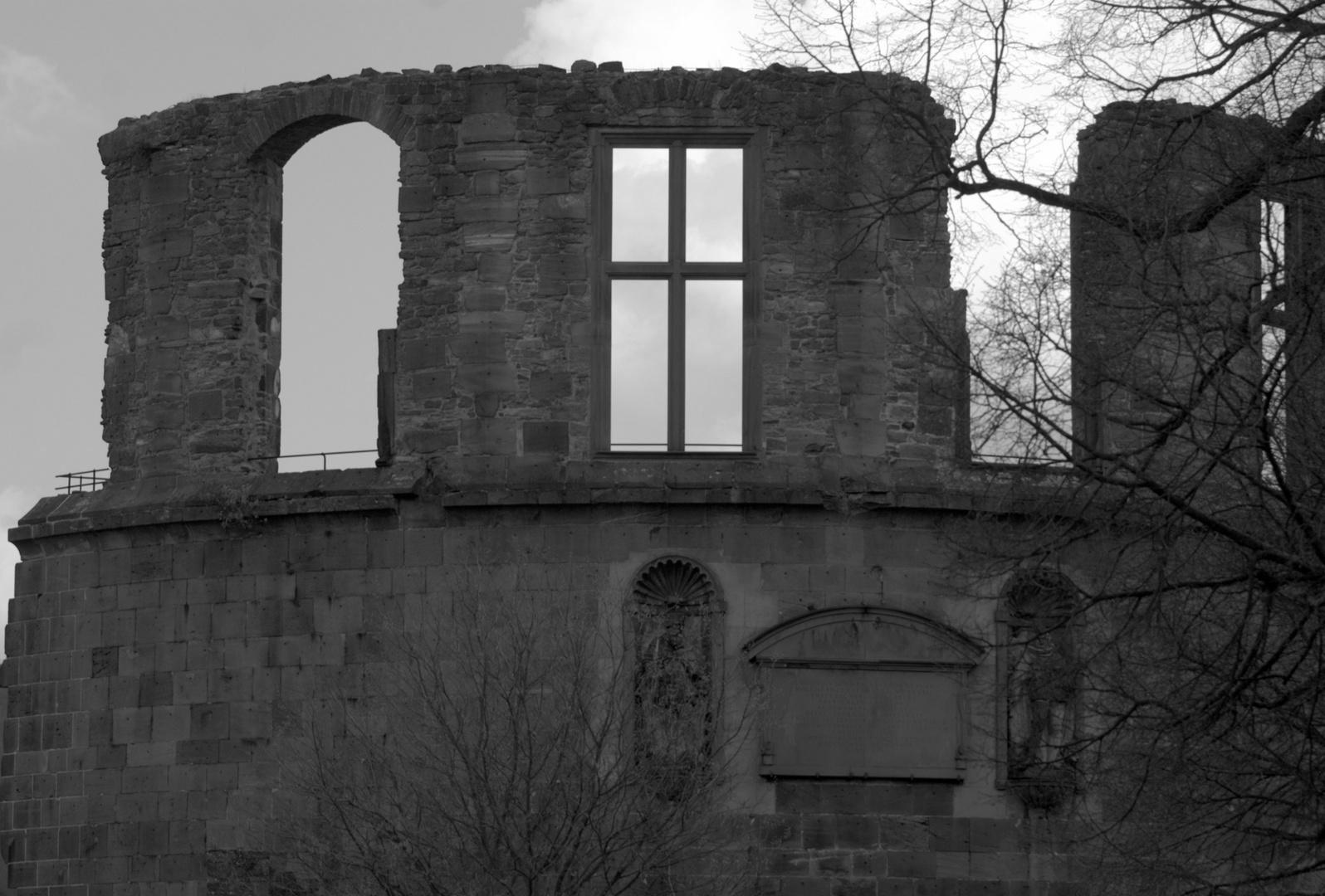 Schwarz Weiß Schloss