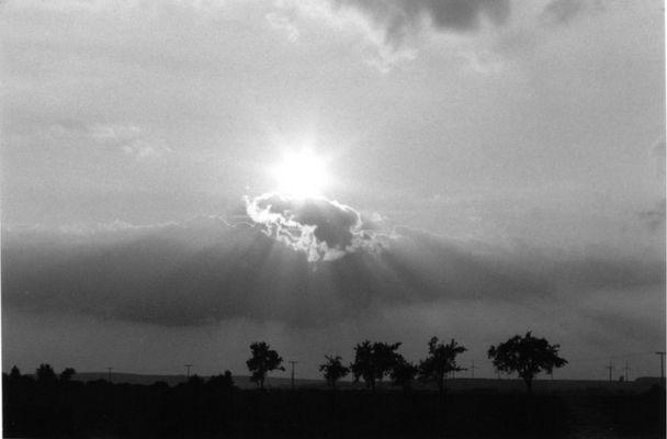 Schwarz-Weiße Sonne