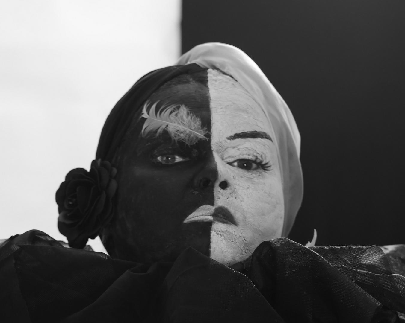 Schwarz-Wieß Portrait