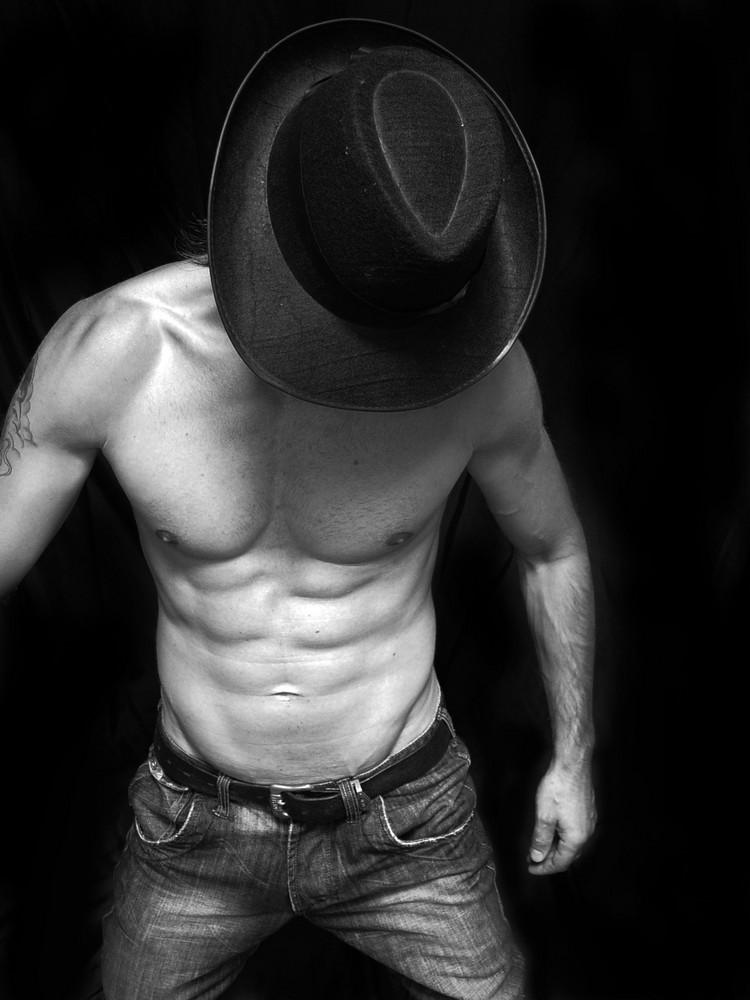 schwarze Hut