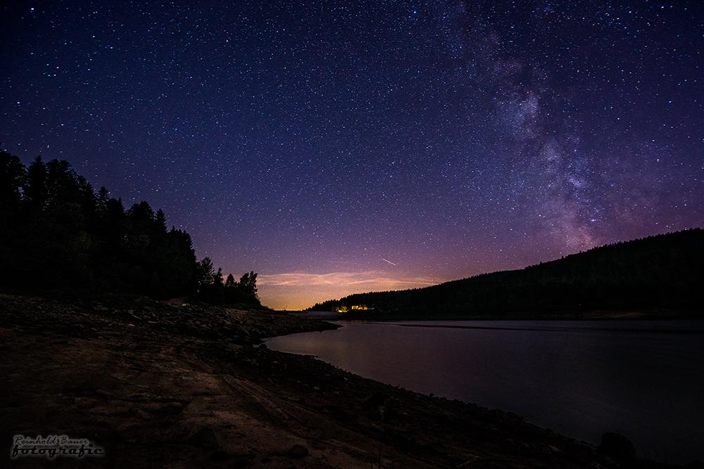 Schwarzenbach-Talsperre bei Nacht-1