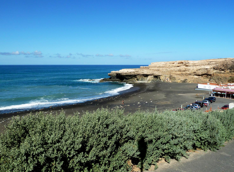 Schwarzer Sand auf Fuerteventura