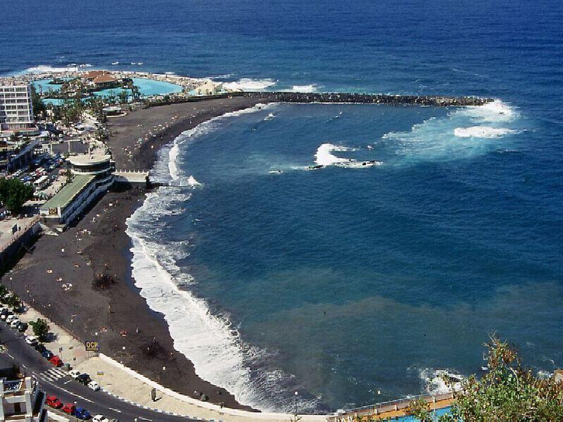 schwarzer strand von puerto de la cruz foto bild europe canary islands die kanaren spain. Black Bedroom Furniture Sets. Home Design Ideas