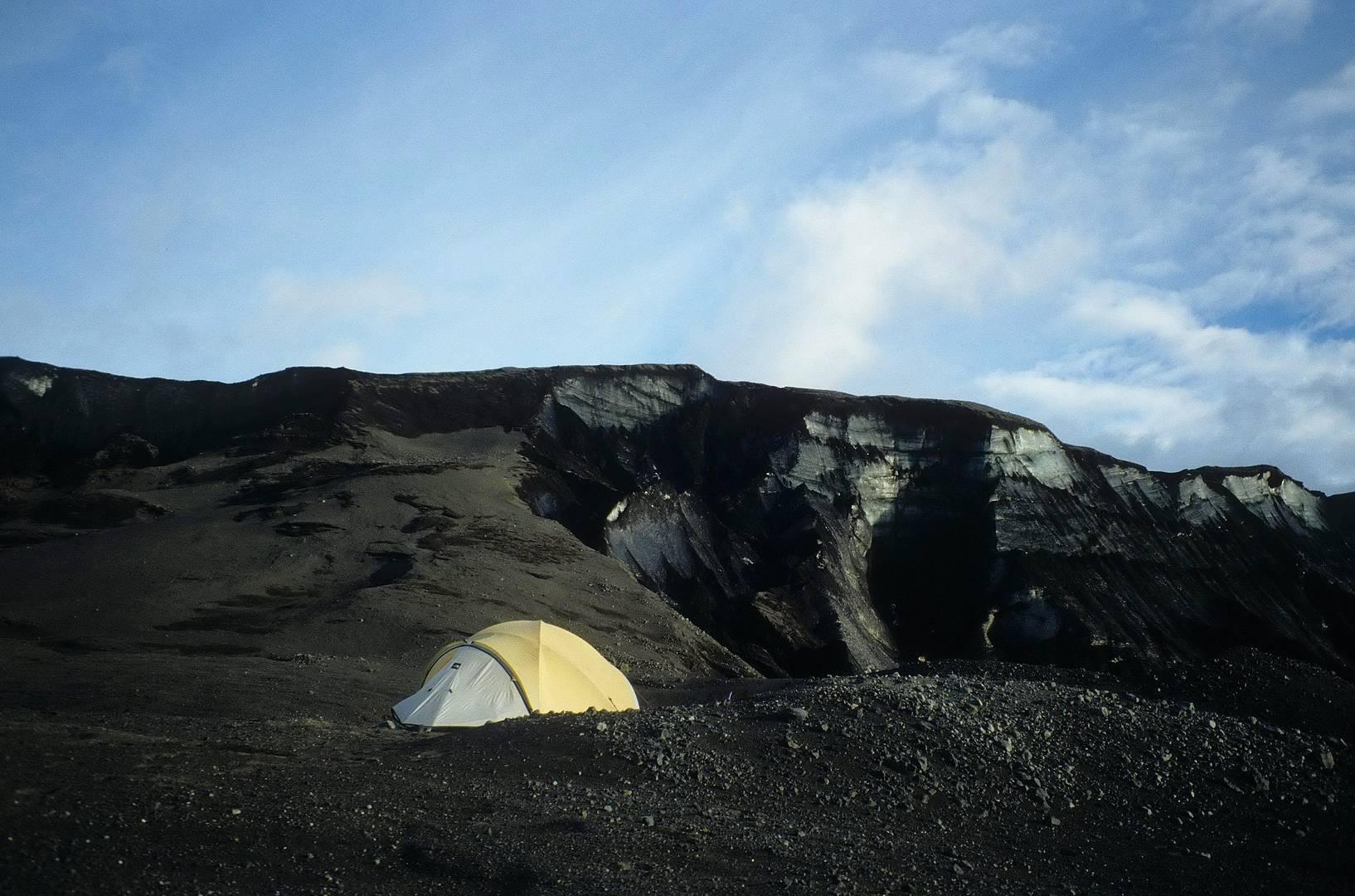 Schwarzes Eis am Vatnajökull