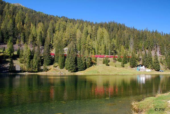 Schwarzsee Laret bei Klosters-Davos