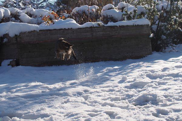 Schweben im Schnee
