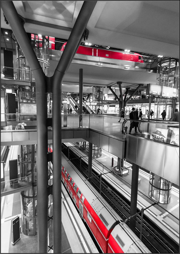 Schwebende Bahnsteige...