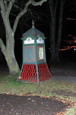 Schwedische Telefonzelle.