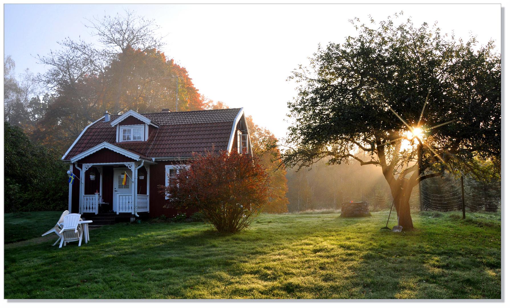 Schwedischherbstliche Morgenstimmung