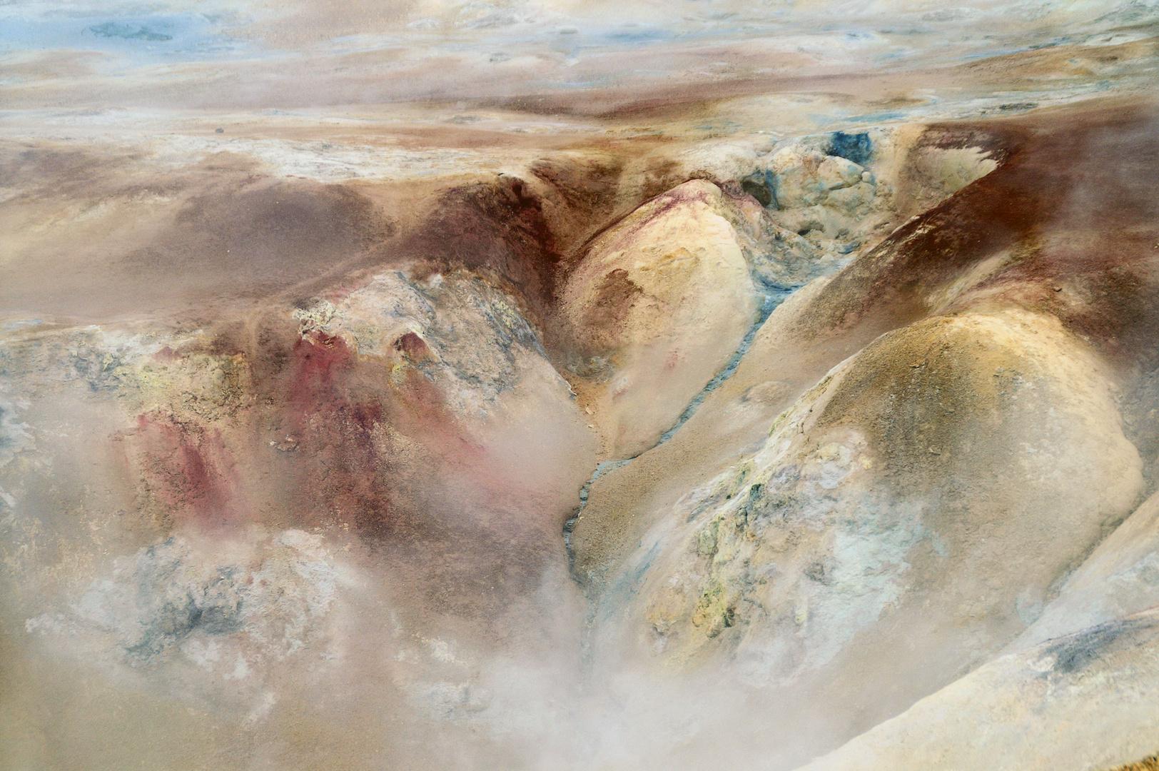 Schwefelquellen am Leirhnjúkur, Island - Detail