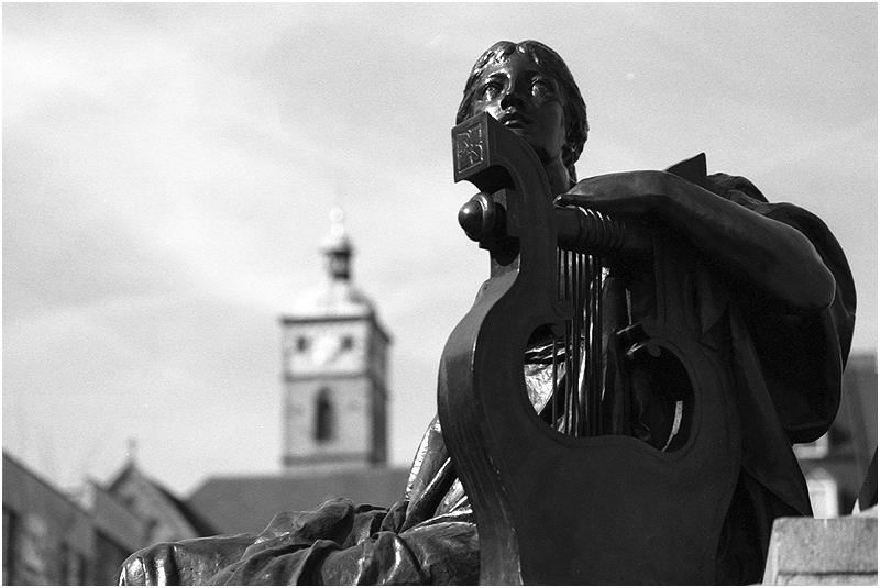 "Schweinfurt/Main: ""Die Lyrik"" (Detail Rückertdenkmal)"