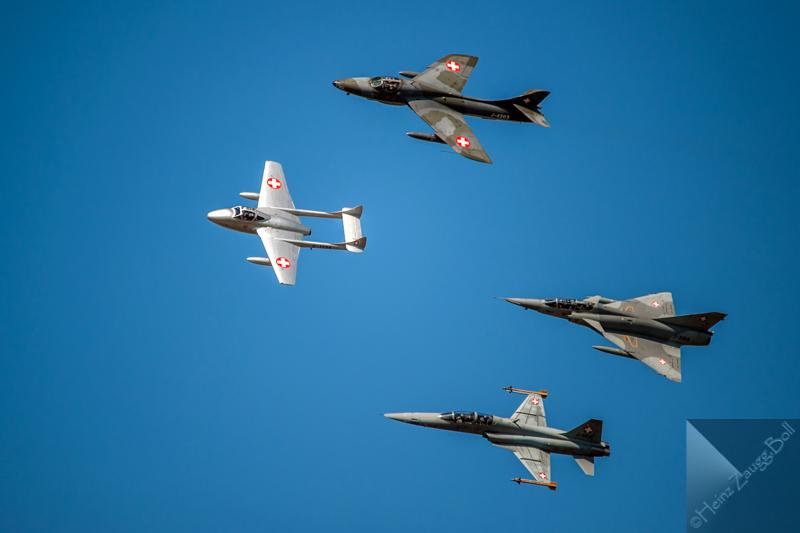 Schweizer Luftwaffe: Tiger, Vampire, Hunter, Mirage