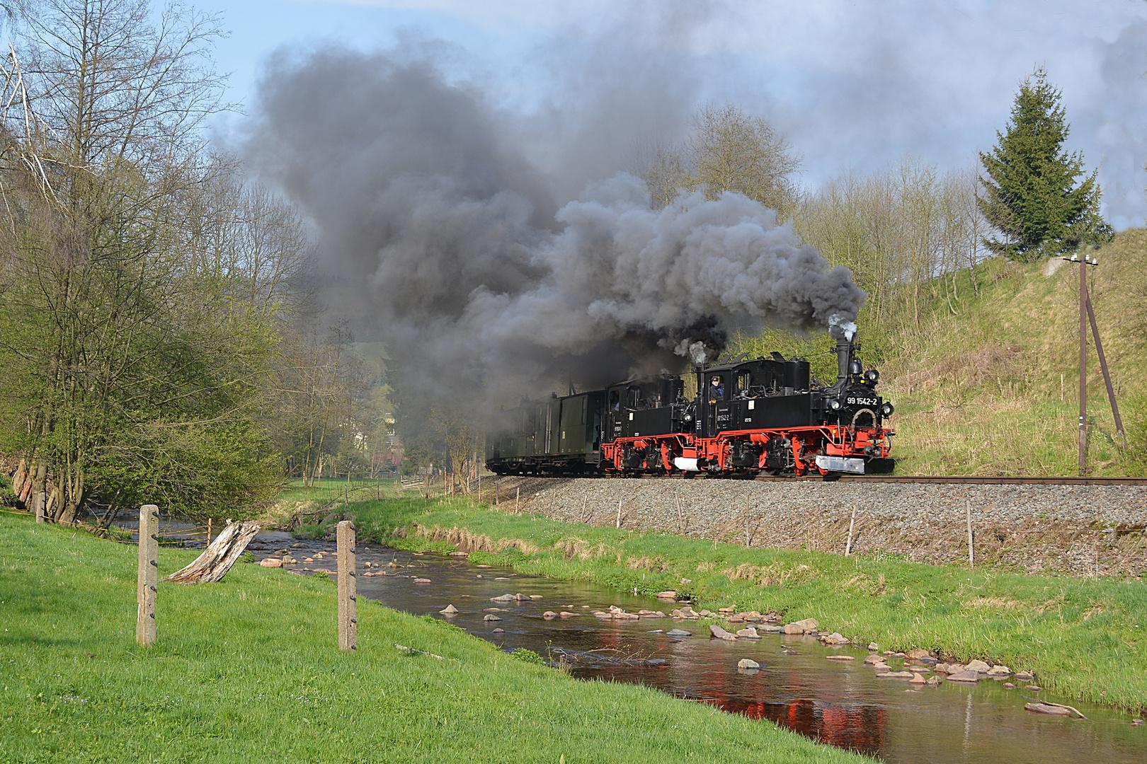 Schwere Züge brauchen manchmal 2 Lokomotiven