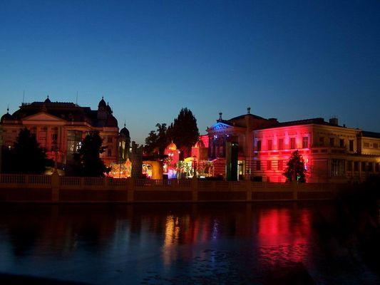Schwerin bei Nacht