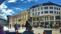Schwerin City Marienplatz Kaffee Knaack