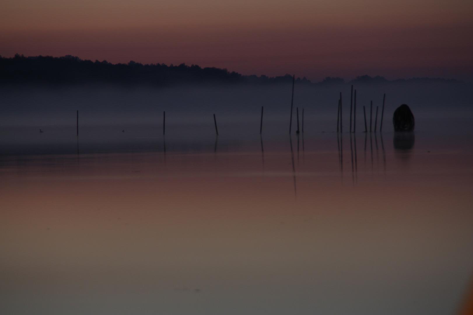Schweriner See im Morgengrauen