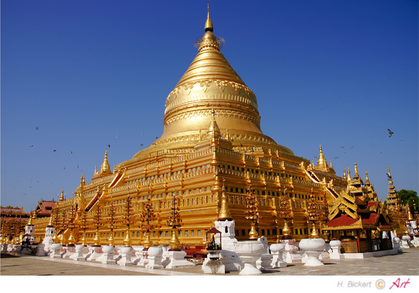 Schwezigon-Pagode bei Bagan