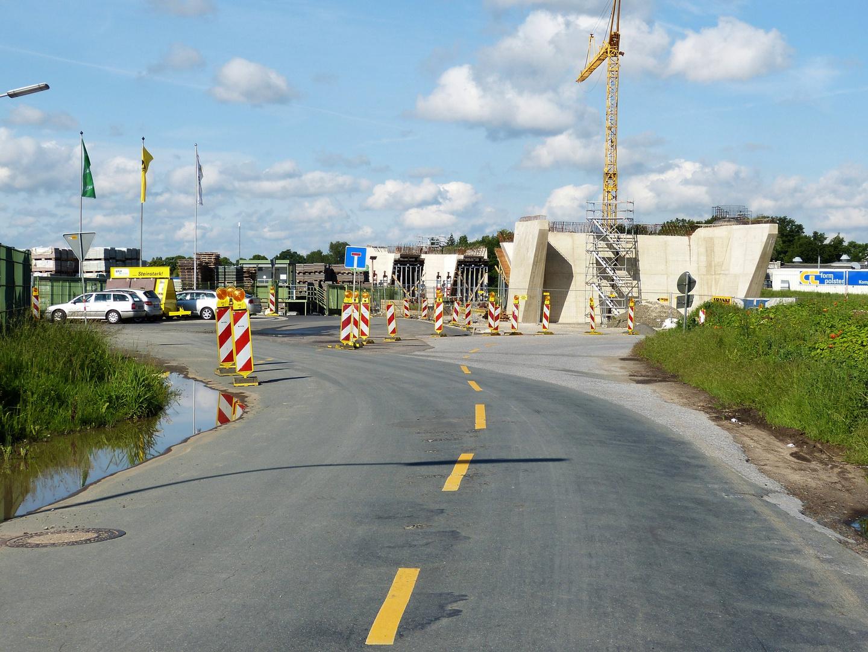Schwierige Einfahrten an der Börstelstr-Brücke