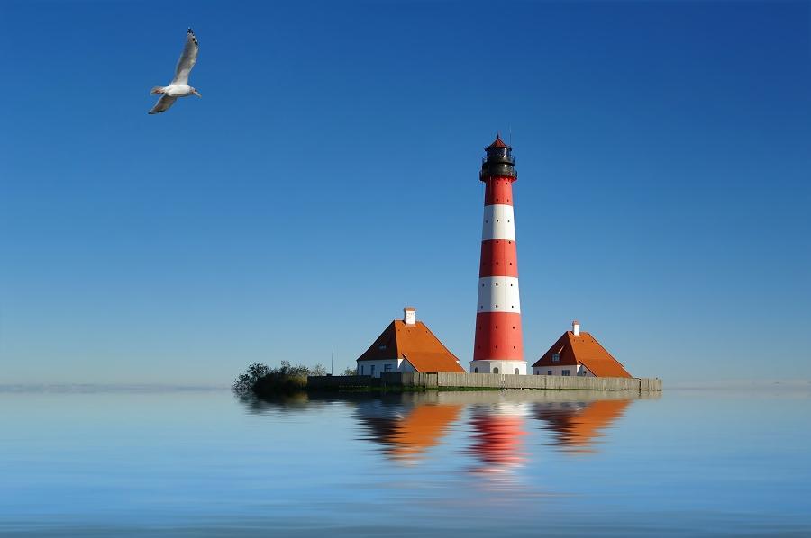 Schwimm mal wieder - Westerhever Leuchtturm