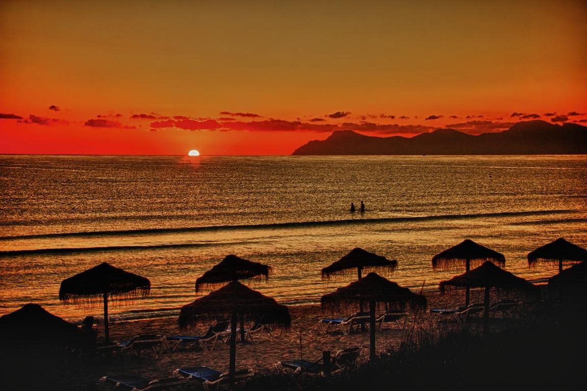 Schwimmen bei Sonnenaufgang !